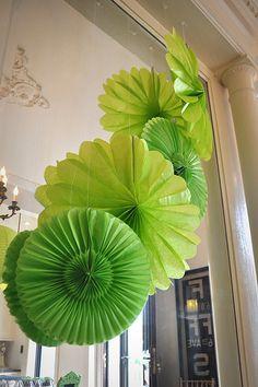 tissue paper poms - photo via brooklyn limestone