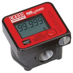 "Piusi ½"" Oval Gear Meter  K400 oval gear meter. 1-30L/min. 1/2"" BSPF ports. Electronic display with 5 digit register.  • Only suitable for use with diesel, oils & antifreeze. • IP55 rating. • Robust oval gear type meter shows 9999 litres. • Accuracy +/ -0.5%. Max. pressure 994 psi (70 bar). • Aluminium construction. Weight 0.5kg. • Powered by 2 x AAA batteries."