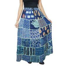 6458f47452 Mogul Interior - Mogul Women's Peasant Patchwork Maxi Skirt Printed Hippy  Chic Vintage Tiered Rayon Long Skirts - Walmart.com