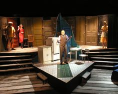 Death of a Salesman. The Hypocrites, Chicago. Scenery designed by Sean Craney and Jim Moore.