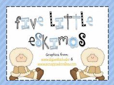 5 Little Eskimos printable booklet. Cute!