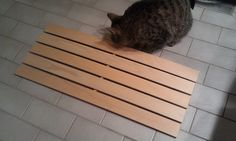 use wooden slats from ikea bed to make bookshelf when add crown moulding