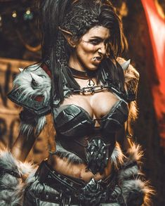 Dnd Characters, Fantasy Characters, Female Characters, Orc Warrior, Fantasy Female Warrior, Character Portraits, Character Art, Character Ideas, Blood Of Heroes