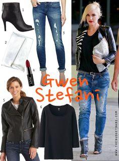 Dress by Number: Gwen Stefani's Moto Jacket and Peep Toe Booties