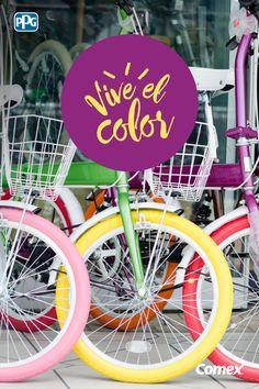#ViveElColor de tu ciudad y descubre una aventura en bicicleta.  #Colores #Ideas #Inspiracion #Ideas #DIY #Inspiration #Deco #Comex