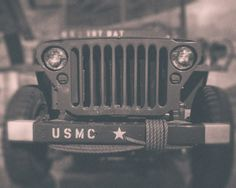 Vintage Military Jeep Fine Art Photography by KEnzPhotography  8x10, 11x14, 16x20  Pillow cover also available