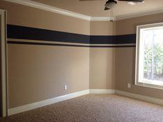 Striped wall for boys room Striped walls Boy room Boy s room