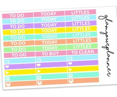 Pastel Daily Headers - Littles Planner Stickers / Odds & Ends #planners #plannerstickers