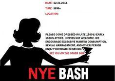 theme party : mad men : : invite