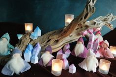 Crystal Gnomes Waldorf inspired Nature Table by FamilleVerte
