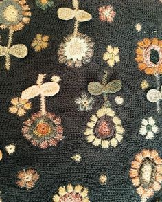 Autumn/Winter Sophie Digard order placed today - so gorgeous! Summer styles in store right now but they are walking out the door. Manta Crochet, Freeform Crochet, Crochet Art, Knit Or Crochet, Crochet Motif, Crochet Patterns, Art Textile, Textile Artists, Wool Applique