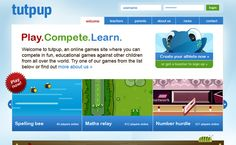 A cool site for Math & Spelling games where kids compete against others.
