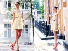 Zara Dress, Aldo Heels