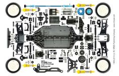 Tamiya Item.58568 TT-02B Off-Road Buggy 1/10 EP Shaft Driven Body with NEO SCORCHER Version RC Car