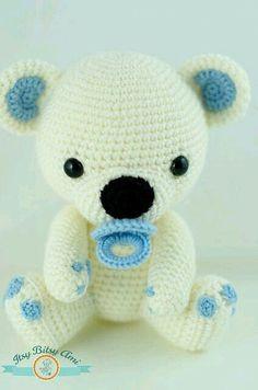 Amigurumi crochet bear toy