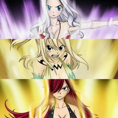 Fairy Tail women are badass #mirajane #lucy #erza