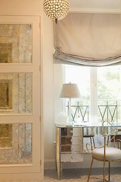 lovely relaxed roman shades