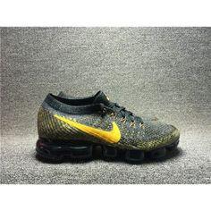 huge discount 5eb8a a661e Běžecké Boty Nike Pánské - Horký Nike Air Vapormax Flyknit Šedá Žlutý  Běžecké Boty