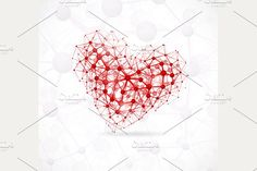Molecular Heart by Lonely on @creativemarket