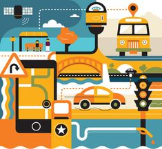 Radio: Wired Environment Illustrations
