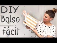DIY Cómo hacer un bolso de tela fácil personalizado / Ideas Tendencias 2018 - YouTube Crafts For Girls, Diy And Crafts, 5 Minute Crafts, Craft Videos, Craft Tutorials, Cosmetic Bag, Youtube, Pouch, Teaching