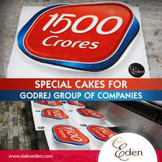 Baking an amazing cakes for celebrating Godrej Group's successful year with 1500 crores profit. #Godrej #Profit #Cakes
