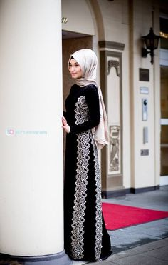 Very elegant! #Hijab #HijabFashion #Fashion