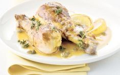Μπουτάκια κοτόπουλου με σάλτσα ρίγανης και κάππαρης Greek Recipes, Light Recipes, Pork, Turkey, Cooking Recipes, Chicken, Meat, Carne, Olive