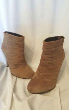 45.53$  Buy now - http://vireo.justgood.pw/vig/item.php?t=69h41x1963 - Me too womens shoes sz 8 M Jumper14 kid suede brown booties heels 45.53$