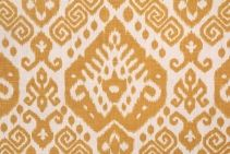 Mill Creek Safi - Cliffside Nate Berkus Printed Linen Drapery Fabric in Maize $21.95 per yard