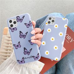 Cute Butterfly Purple Phone Case For iPhone