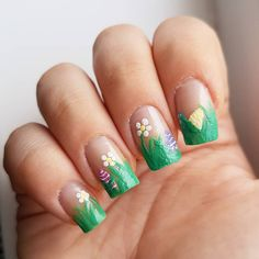 Domi Králiková (@domi_nailart) Where is every #easteregg ? on my #nails of course Do you like this #frenchmanicure ? #nailart #easter #easterideas #nailartist #greennails #eastereggs #easter2018 #easternailart #easternails #follow #followme #nailpainting