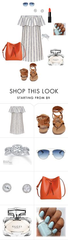"""""""Ruffles"""" by ulusia-1 ❤ liked on Polyvore featuring Sea, New York, Breckelle's, Angel Sanchez, Christian Dior, Lodis, Gucci and NARS Cosmetics"""