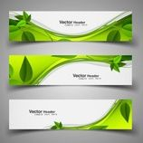 Green nature headers with leaves Free Vector Free Letterhead Templates, Letterhead Design, Graphic Design Brochure, Banner Design Inspiration, Brochure Inspiration, Web Design, Logo Design, Nature Verte, Library Logo