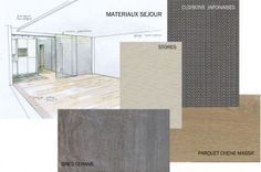 planche materiaux salon