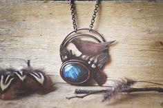 Copper Birdie Necklace by twistedjewelry.deviantart.com on @DeviantArt