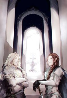 the Gate of Gondolin - Glorfindel and Ecthelion