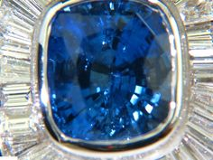 12.52CT 18KT Natural sapphire Diamond Baguette Deco by AvisDiamond