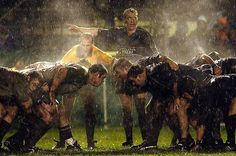 Steam rises from rugby players during a match in Edinburgh, Scotland.