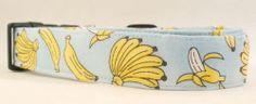 Awesome Going Banana's Blue Dog Collar Time to Monkey Around Banana | eBay