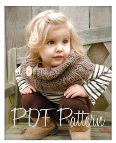 Knitting PATTERN-The Brooklynn Cowl (Child, and Adult sizes) via Etsy