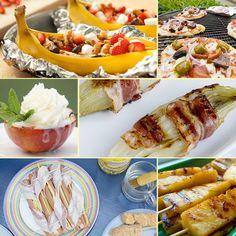 <p>Komende week is het uitstekend weer om de barbecue aan te steken. Wil je echter wel eens wat anders dan speklapjes, hamburgers en kippenpootjes? Wat dacht je bijvoorbeeld van gegrilde banaan, pizza of gevulde portobello's met roomkaas? Dat wordt binnenkort genieten!</p> Barbecue, Hamburgers, Portobello, Grilling, Sandwiches, Mexican, Snacks, Pizza, Ethnic Recipes