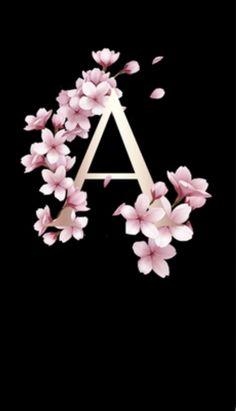 Iphone Homescreen Wallpaper, Galaxy Wallpaper, Mobile Wallpaper, Stylish Alphabets, Alphabet Wallpaper, Flower Frame, Phone Backgrounds, Valentines, Letters
