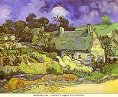 Vincent van Gogh. Cottages with Thatched Roofs. Auvers-sur-Oise. Olga's Gallery.