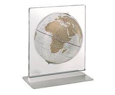 Globo da tavolo in acciaio e plexiglass Aria, D 22/h 32 cm