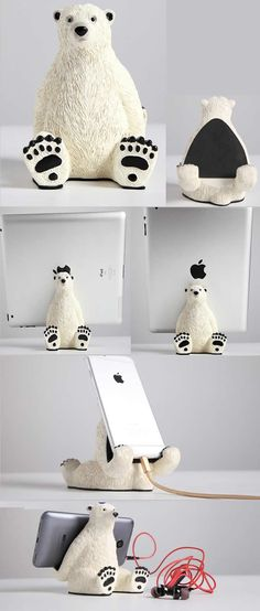 Cartoon Polar bear iPad Mobile Phone Charging Station Dock Holder