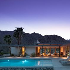Palm Springs Residence, modern build to mid century design principles by elisabeth