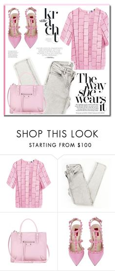 """""""Pink day."""" by zeljkaa ❤ liked on Polyvore featuring MSGM, Balenciaga and Valentino"""