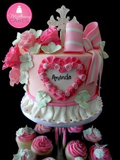 Cute Girly Cake and Cupcakes
