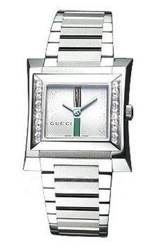 Gucci YA111504 111 Women's Square Pearl Dial Diamond Dress Watch 23% off retail